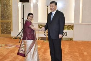 Sushma Swaraj meets Xi Jinping ahead of Wuhan summit