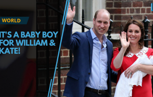Kate, Prince William and their newborn son posed for dozens of...