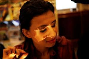 Photos: Boosting self-image with makeup courses for blind Brazilian...