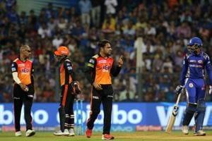 Sunrisers Hyderabad defeated Mumbai Indians by 31 runs at the Wankhede Stadium in Mumbai on Tuesday. Get full cricket score of MI vs SRH here.