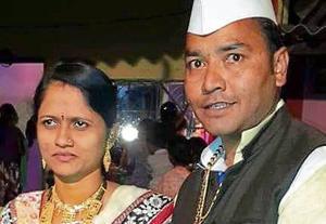 Shiv Sena leader Shailesh Nimse who was murdered with his wife Vaishali Nimse.