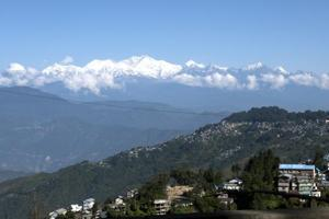 A view of the Himalayas from Darjeeling. The government's move to revive dying Himalayan springs is crucial as mountain springs are the primary source of water for rural households in the region.