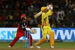 MSDhoni's 70* and Ambati Rayudu's 82 helped Chennai Super Kings beat Royal Challengers Bangalore by five wickets. Get highlights of Royal Challengers Bangalore vs Chennai Super Kings, IPL 2018 Twenty20, here.