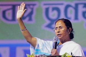 West Bengal chief minister Mamata Banerjee during a rally in Howrah.