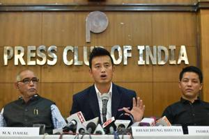 Former Indian football captain Bhaichung Bhutia said he did not support the Trinamool's stand on the Gorkhaland issue.