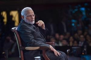 Prime Minister Narendra Modi interacts with the members of the Indian community, at 'Bharat Ki Baat, Sabke Saath' an interactive programme, Westminster, London, April 18