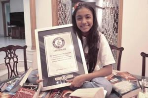 Krshaana Rawat with her Guinness World Record.