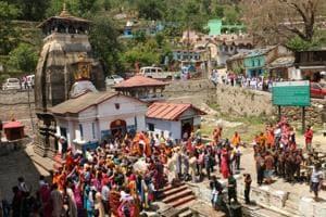 Utsav Doli of Kedar Baba begins its journey to Kedarnath from Omkareshwar temple at Ukhimath in Rudraprayag district on Thursday.