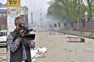 Meraj-ud-din of AP is a veteran cameraman of Kashmir.