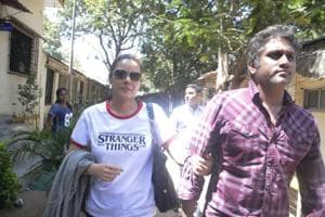 Udita Goswami was accompanied by her husband Mohit Suri and it took her more than an hour to record her statement.