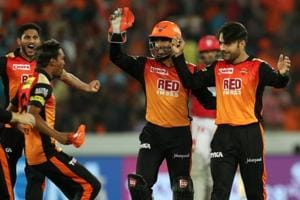 Rashid Khan picked up three wickets to give Sunrisers Hyderabad a 13-run win over Kings XI Punjab as Ankit Rajpoot's five-wicket haul went in vain for Ravichandran Ashwin's side.