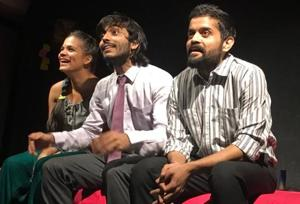 The cast of the play Adrak features alumni of The Drama School.