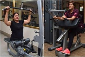 Jaspal Kaur Bhatia (58) feels regular exercising helps her relax and handle stress better; and (right) Renu Bains feels gymming ensures a disciplined lifestyle.