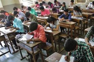 School students in Thane write their Higher Secondary Certificate exams. A BEd degree is a must for school teachers.