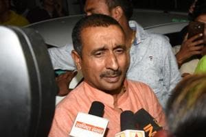 BJP MLA Kuldeep Singh Sengar, the main accused for the alleged rape a minor last year in Uttar Pradesh's Unnao. Sengar has been arrested and charged under the Protection of Children from Sexual Offences (POCSO) Act .