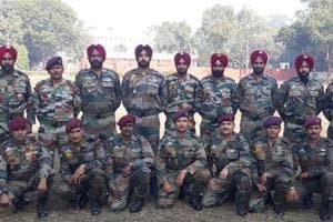 Some of the trainers of the Special Operation Group at Bahadurgarh near Patiala.