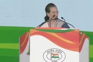 Former Congress president Sonia Gandhi charged the government with muzzling dissenting voices, weakening institutions and dividing communities eyeing poll gains.