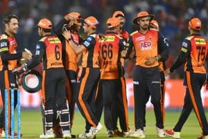 Sunrisers Hyderabad bowlers' impressive defence of modest totals continued as the visitors pulled off a 11-run win over Rajasthan Royals at the Sawai Mansingh stadium on Sunday to go top of the 2018 Indian Premier League points table.