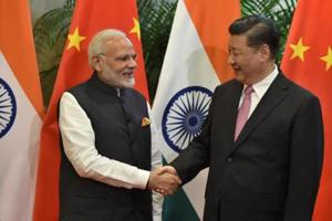 PM Narendra Modi with Chinese President Xi Jinping during their visit at East Lake Guest House, in Wuhan, China, April 27, 2018.