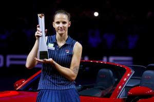 Karolina Pliskova put the groin injury down to fatigue after seven games in the last nine days, including a tournament-winning run in Stuttgart and two Fed Cup semi-final games for the Czech Republic.