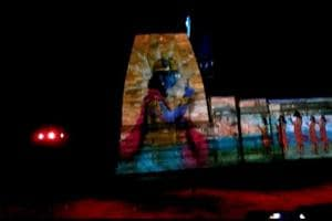 The laser show presented at the Kedarnath  shrine in Uttarakhand. The  show,  titled  'The Eternal Shiva', was introduced at the shrine this year as a new attraction for devotees.