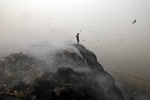 Rampant garbage burning is adding to pollution in New Delhi.