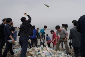Photos: Defectors send bottles of food and facts to North Korea