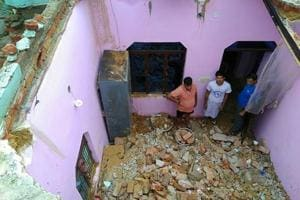 A house collapsed in the Wednesday night