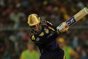 Shubman Gill of Kolkata Knight Riders during match thirty three of the Vivo Indian Premier League 2018 (IPL 2018) between the Kolkata Knightriders and the Chennai Super Kings held at the Eden Gardens Cricket Stadium in Kolkata on the 3rd May 2018. Photo by: Prashant Bhoot /SPORTZPICS for BCCI