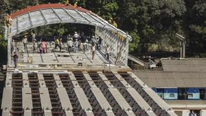 Work on the FOB, undertaken as part of the Parel terminus project, picked up speed only after the stampede at Elphinstone Road station FOB killed 23 commuters last year.