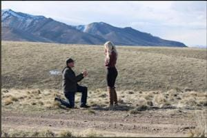 Levi Bliss proposed to his girlfriend of two years, Allison Barron. Their pictures have been going viral for a hilarious reason.