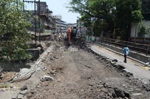 The demolition of the old bridge by PWD is expected to last for a month.