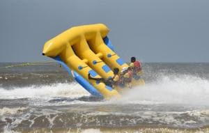 Licences to conduct water sports were given out last month by the Maharashtra Maritime Board.