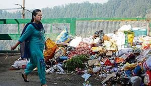 Residents are forced to throw garbage on roadside due to SEHB employees' strike.