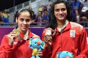 Saina Nehwal and PVSindhu won the gold and silver medals respectively in the 2018 Commonwealth Games in Gold Coast.