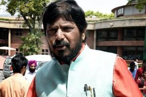 File photo of Union minister of state for social justice Ramdas Athawale.