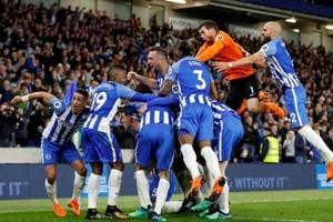 Brighton & Hove Albion are now on 40 points after 36 Premier League games.