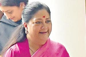 Rajasthan chief minister Vasundhara Raje after meeting Amit Shah in New Delhi on Sunday.