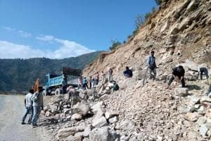 The incident occurred near Gauchar on Badrinath highway on Saturday morning when the bus with 22 pilgrims from Rajasthan was on its way to the Himalayan shrine.