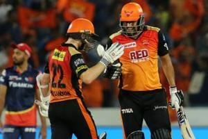 Sunrisers Hyderabad climbed to the top of the IPL 2018 table with a seven-wicket win over Delhi Daredevils.