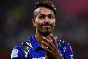 Hardik Pandya guided Mumbai Indians to victory during their Indian Premier League match against Kolkata Knight Riders on Sunday.
