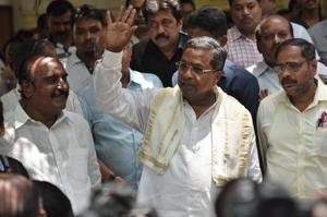 Karnataka CMSiddaramaiah after a press conference in Bengaluru on Sunday.