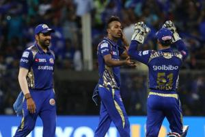Hardik Pandya's all-round exploits helped Mumbai Indians stay alive in the race for the IPLplay-offs with a 13-run win over Kolkata Knight Riders in the Indian Premier League.