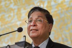 Chief Justice of India Dipak Misra speaks at an event in New Delhi.