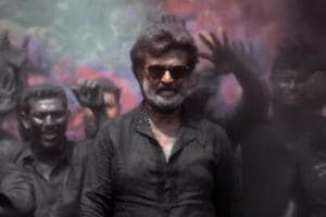Rajinikanth in a still from his upcoming film, Kaala.