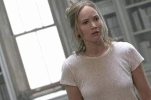 Jennifer Lawrence in a still from Darren Aronosky's mother!.