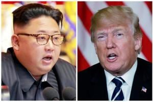 A combination photo shows North Korean leader Kim Jong Un in Pyongyang, North Korea and U.S. President Donald Trump in Palm Beach, Florida, U.S., respectively from Reuters files. Will Kim accept anything less than an explicit US pledge never to invade his country?