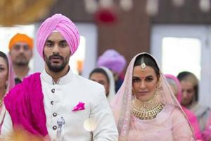 Angad Bedi and Neha Dhupia got married in Delhi on Thursday.