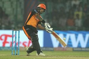 Shikhar Dhawan in action for Sunrisers Hyderabad during their Indian Premier League (IPL) match against Delhi Daredevils.