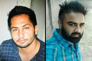 While Jailpal (left), said to be among the most powerful gangsters in the state, is on the run, Vicky Gounder was killed in an encounter on January 26.